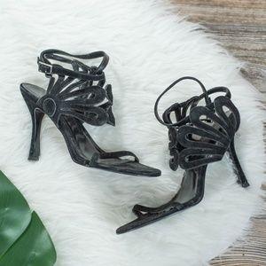 Colin Stuart black butterfly heels